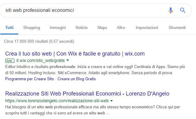 siti web professionali economici