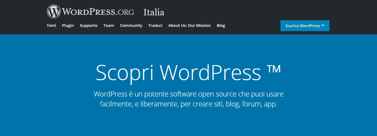 come funziona wordpress org