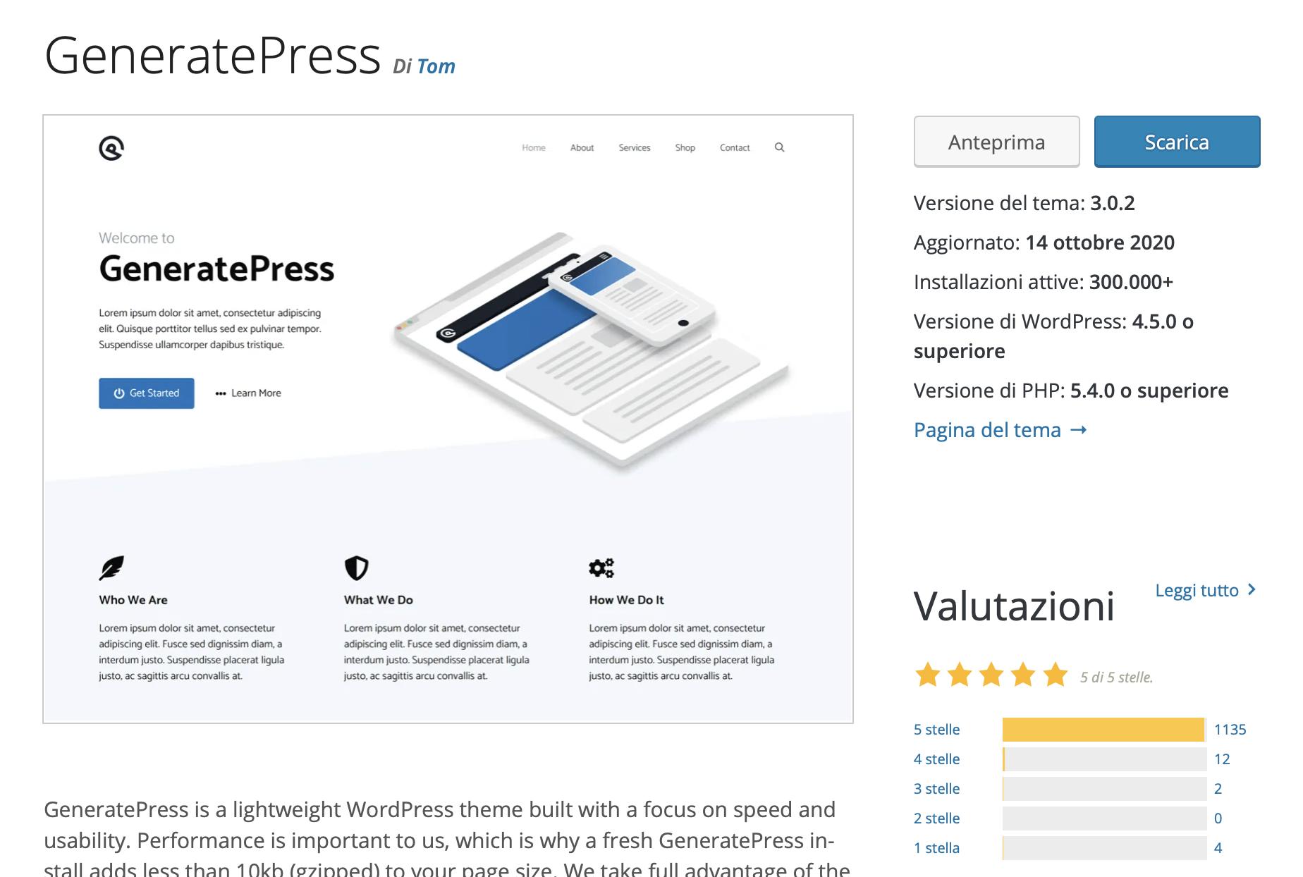 recensione generatepress premium