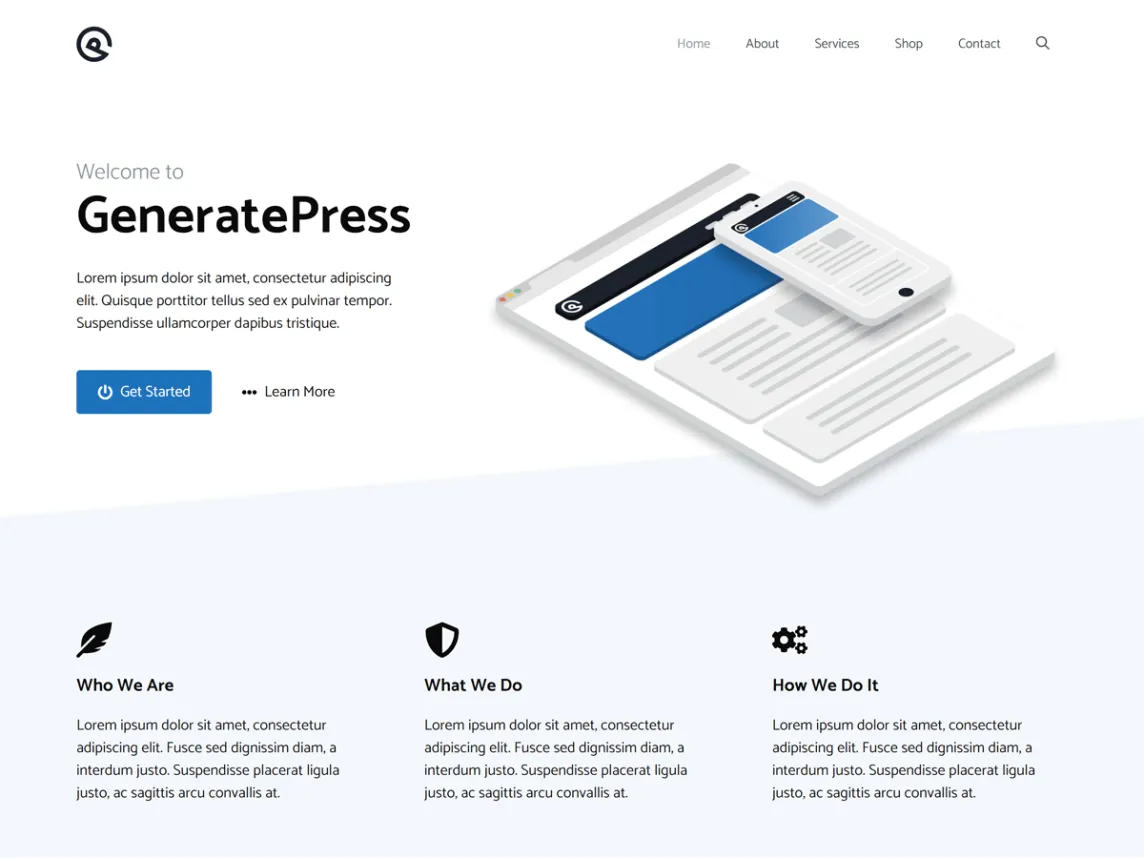 generatepress site libray